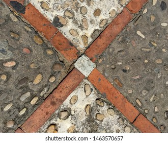 Typical floor texture in Oliva, Valencia province, Valencian Community, Spain