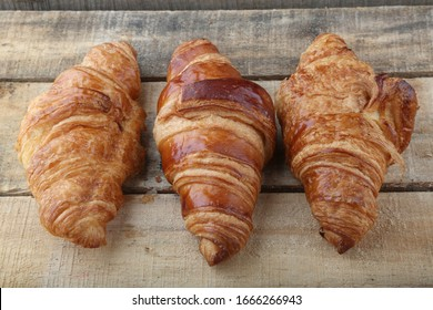 typical french for breakfast croissant