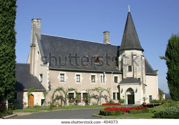 Typical French Chateau in Loire Valley