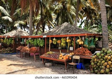 Typical fruit stand in Salalah, Oman