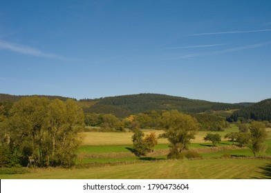 typical german landscape in southern germany