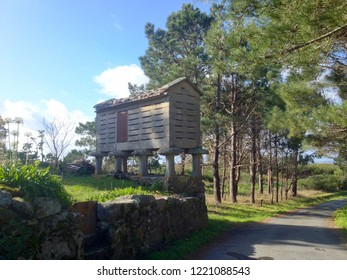 Typical granary called horreo in Galicia, Spain.