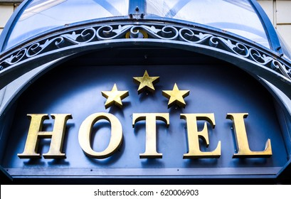 typical hotel-sign in italy