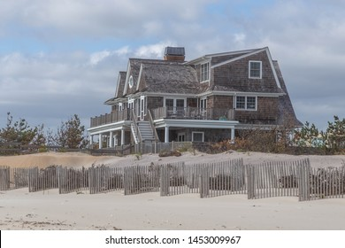 Typical house architecture of Long Island beaches, New York