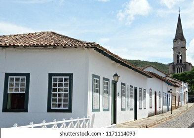 Typical house of Cidade de Goias also known as Goias Velho in the central west region of Brazil
