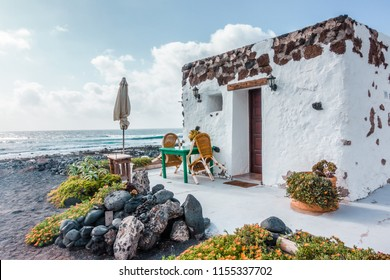 Typical house of Lanzarote, Spain