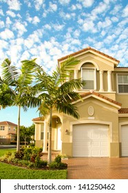 A typical house in the suburbs of Miami, Florida.