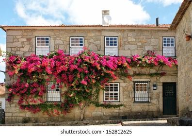 Typical house in Vila Nova de Cerveira, Portugal
