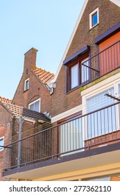 Typical house in Volendam, North Holland, Netherlands