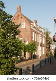 Typical houses in the city of Nijkerk in the province Gelderland, Holland, NLD