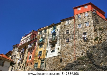 Typical houses of downtown in Porto, Portugal
