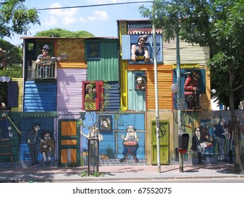 Typical houses in La Boca, Buenos Aires