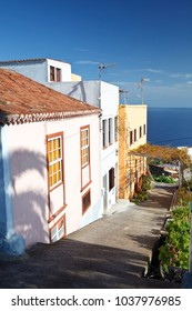 Typical houses in the north of La Palma, Spain.