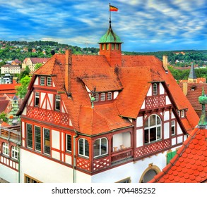 Typical houses in the old town of Tubingen - Baden Wurttemberg, Germany