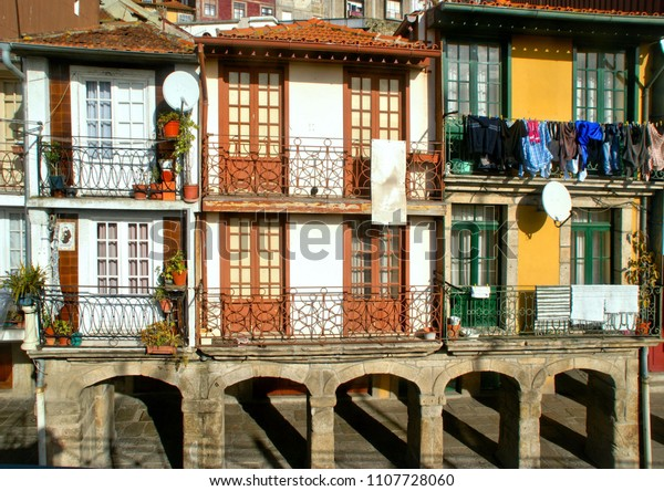 Typical houses in Oporto, Portugal