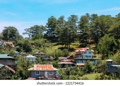 Typical houses of Sagada Mountain Province of the Philippines