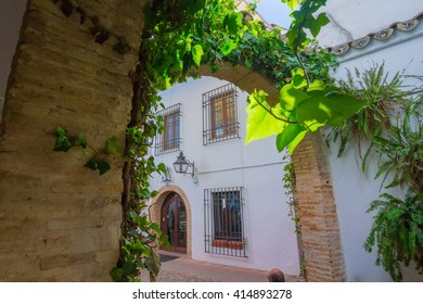 Typical houses in the tourist in the city of Cordoba, Spain