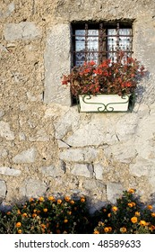 Typical houses, walls, doors and windows in Valle Taleggio, Italy.