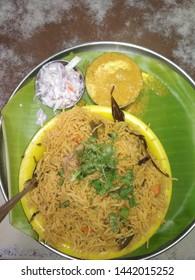 A typical Hyderabadi Biryani. .yammi..