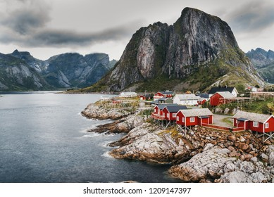 A typical image of the Landscape of Lofoten in Northern Norway