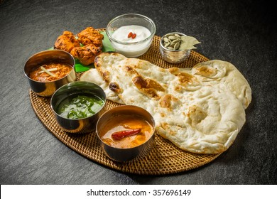 Typical Indian curry set