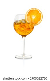 typical Italian aperitif on white background with path