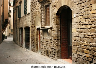 Typical italian street (Florence, Italy)