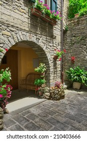 Is a typical italian street in the a small provincial town in Tuscany, Italy, Europe