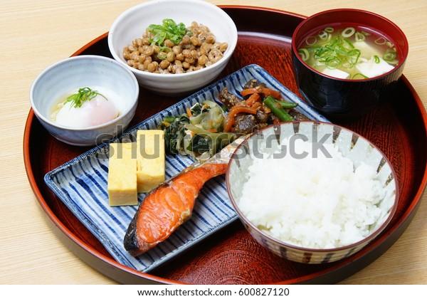 Typical japanese breakfast image; Japanese cuisine