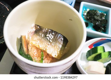 Typical japanese food in japanese ryokan