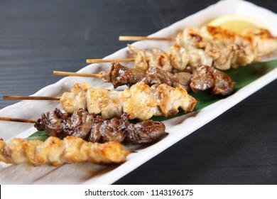 Typical Japanese Izakaya Menu YAKITORI Chicken Barbecue