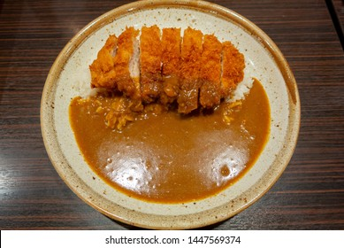 Typical Japanese popular food, Katsu curry at restaurantTypical Japanese popular food, Katsu curry at restaurant
