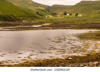 typical landscape on the Isle of Sky, Inner Hebrides, Scotland, United Kingdom