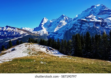 Typical landscape in the Swiss Alps