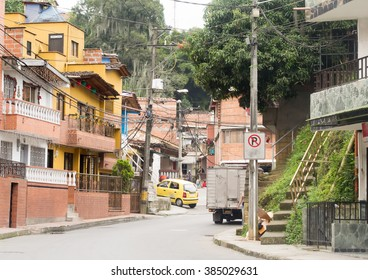 Typical Latin American city view