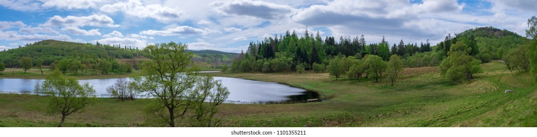 A typical loch in the scottish Highlands