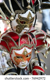 Typical masks from Venice in Italy.