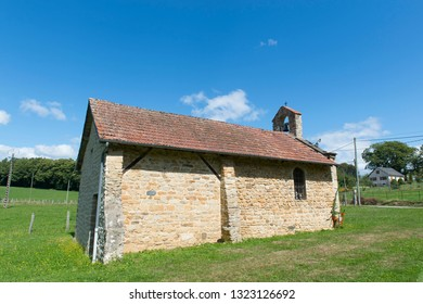 Typical Medieval chapel in French village in Limousin
