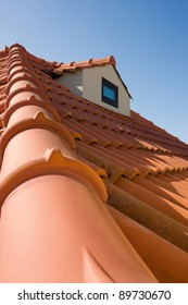 Typical Mediterranean Roof from a southern portuguese coastline house.
