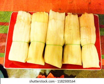 Typical mexican food, ideal for parties and special ocassions. These tamales were part of an offering for the Day of the dead in Mexico.