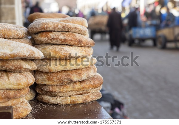 Typical Moroccan breat with sesame