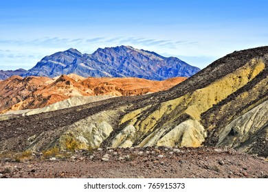 Typical  mountainous desert landscape in Death Valley National Park. California. USA.