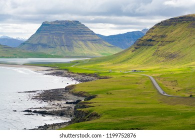 Typical Mountains and coast, Iceland