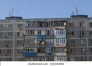 A typical multi-storey building in Russia