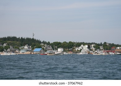 Typical New England harbor