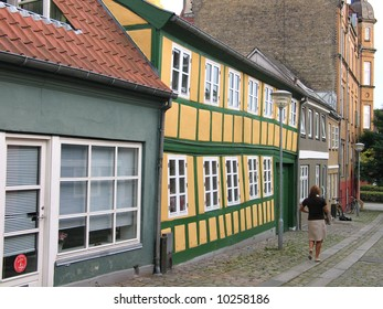 Typical old city house Horsens Denmark