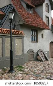 Typical old european city view (Riga, Latvia)