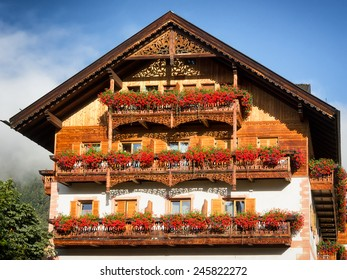 typical old fashioned farmhouse in bavaria
