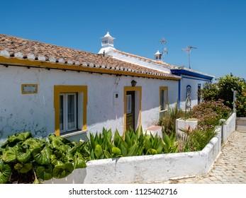Typical old houses at Forte de Cacela, Algarve, Portugal