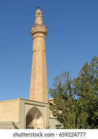 A typical old mosque and minaret in Iran.